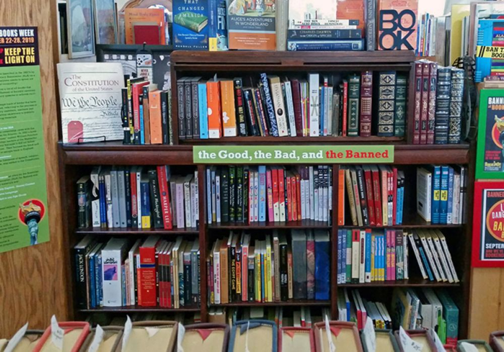 a great selection of banned books